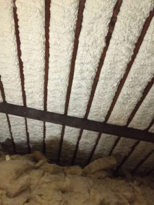 expanding foam insulation sprayed in loft