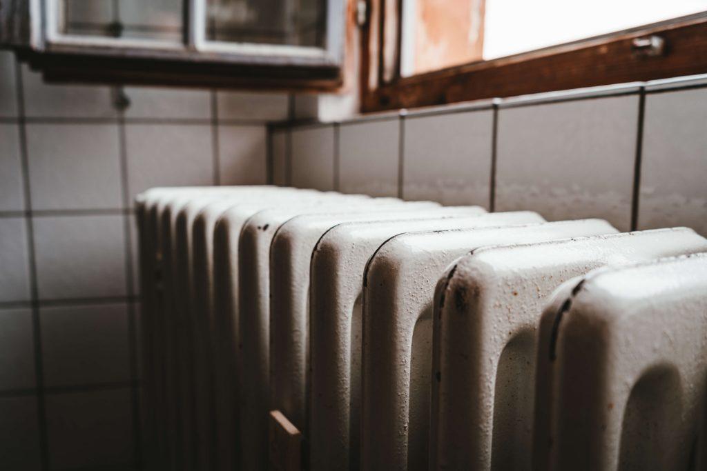 radiator in bathroom